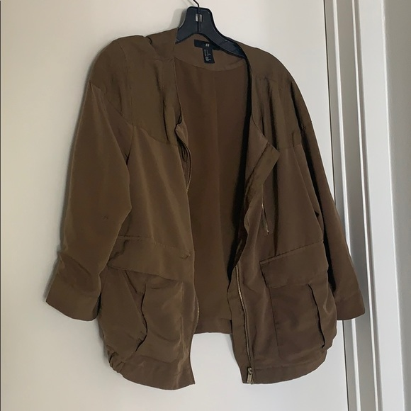 H&M Jackets & Blazers - H&M army bomber